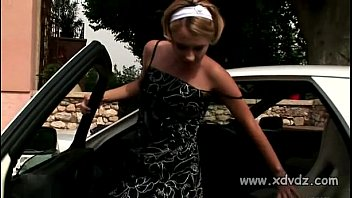 Hot Teen Zuzana Slowly Strips On The Hot Top Of A Sexy Car