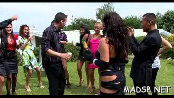 Sex movie trailer clip - Cute babes go crazy over dick