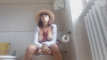 sitting on the toilet, I curse and do everything