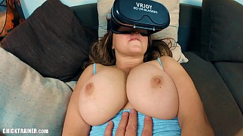 Big-titted cum slut Britney Swallows gets ass-fucked while watching VR porn. Ass to Mouth cum swallowing, large natural boobs and frothy butt-goo cleaned up with a well timed ATM blowjob!