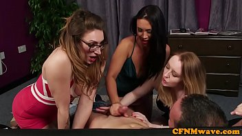 Streaming Video Busty british femdoms jerk subs cock in group - XLXX.video