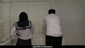 Straight guys handjob - Japanese schoolgirl, sayaka aishiro gives great handjobs to friends, uncensored