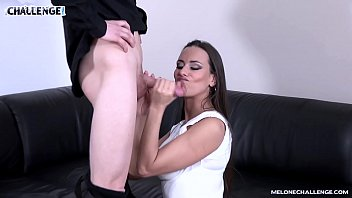 Promising tall newcomer fail when try fuck pornstar Mea Melone