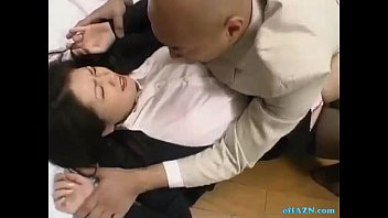 Office Lady Rapped By Her Boss Getting Her Hairy Pussy Fingered On The Floor In