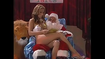 Lusty Santa gives the smart babe the best Christmas present