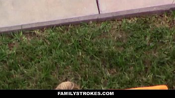 Familystrokes - Spying And Fucking My Step-Sister (Goldie Rush) Outdoors