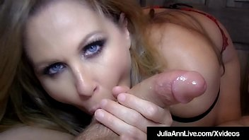Givng blow jobs - Blow job queen milf julia ann gets a load of cum