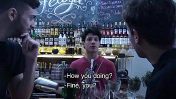 LatinLeche - Cum Thirsty Boy Sucks A Bartenders Uncut Cock