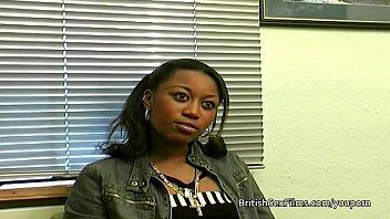 Ebony amateur filmed at real porn casting audition 10 min