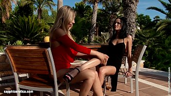 Fruit Lovers by Sapphic Erotica - Nadija and Angelina have hot outdoors sex