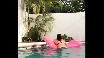 Pool masturbation while the family is over during quarantine. 11 min