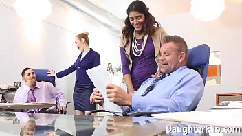 Gigi Flamez And Katalina Mills Are Brought To Work For Their Stepdads To Share Them.