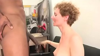 Two girls watch Merce getting POUNDED by a  black cock