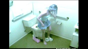 Teen in the bathroom Bath masturbator