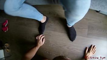 Streaming Video Femdom worship Mistress Kym socks and feet (POV) - XLXX.video