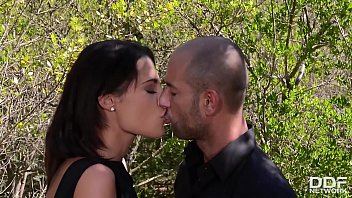 Nature loving Nikita Bellucci rides a fat cock with her ass in the forest