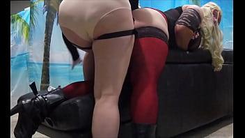 Mistress Warming Up Crossdresser Sissy For Pegging