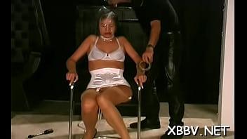 Dishy maid is grabbing her very big boobs
