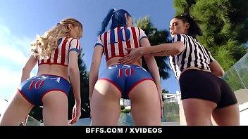 BFFS - Athletic Teens (Vanessa Sky) (Jewelz Blue) (Mackenzie Moss) Try Orgy After Soccer Practice