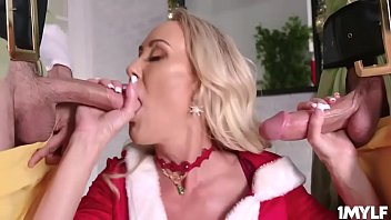 Milf Brandi Love gets her mouth and milf pussy fucked so hard by her pervy stepsons