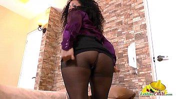 LatinChili chubby mature lady Sharon latin solo 8 min