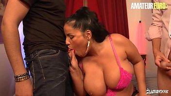 AMATEUR EURO - Big Tits Amateur MILF Tatyana Gets DP In Hardcore Threesome Sex