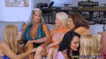 Lesbian Grannies Sex Party