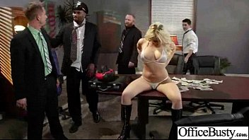 Sex Scene In Office With Slut Hot Busty Girl (kagney linn karter) video-16