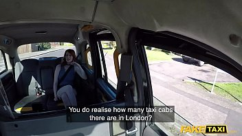 Fake Taxi American foxy redhead fucked in UK taxi