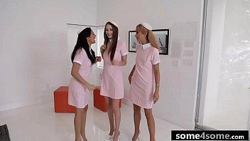 Lucky Rich Guy Fucks 3 Hot Flight Attendants - Venus Valkyrie, Serena Santos, Kyler Quinn thumbnail