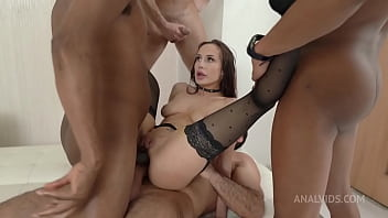 Amazing Nicole Love BBC Interracial and 4on1 Big White cocks DAP and DP Facial Cumshot NF080