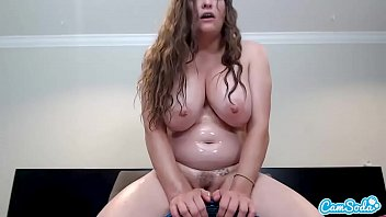 Slut fucks her ass with toy and sucks cock