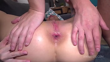 4 Real Anal Orgasms of Kris The Foxx! Robber Fucked Very Hard by beautiful brunette! Slapping, balls deep, hard fucking NRX057