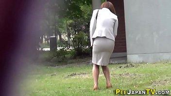 Classy asians piss soak their nice clothes thumbnail