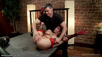 Huge boobs redhead MILF anal banged