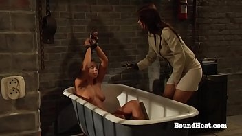 The Education Of Adela: Lesbian Girl In Chains Screams During Mistress's Slave Training