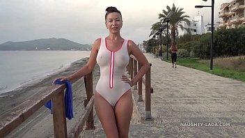 Streaming Video Wet transparent swimsuit in public - XLXX.video