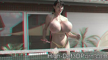 3d black porn - 3d - penelopeblackdiamond - outdoor movie in 3d