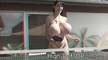 3D - PenelopeBlackDiamond  - Outdoor Movie in 3D