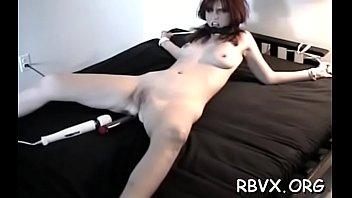 Striking minx in heels orgasm by fingering slit