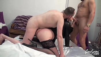 Blonde Milf Sophia Does Her Slut With Two Guys For Her 15 min