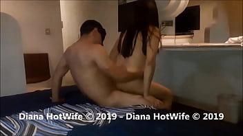 Deliciosa noche de Cuckold, orgasmos y gemidos llenos de placer: Diana Hotwife