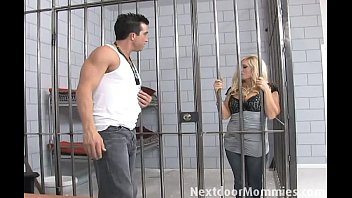 Blonde milf fuck a hard cock in jail video