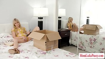 Stepmom caught her stepteen reading her diary