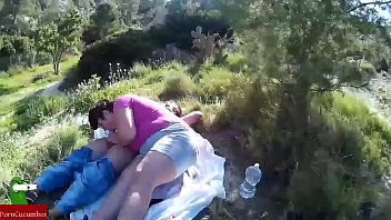 The fat woman eats all her boyfriends dick among the pines CRI002