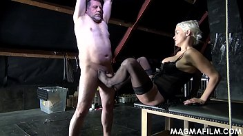 Fetish Mistress Mila Milan takes control of her weak boss