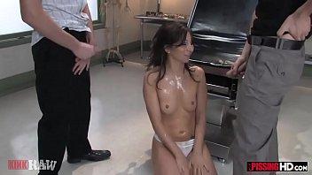 Kinky brunette Jezebel Dahl wants to swallow their pee