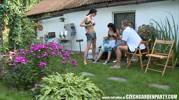 Czech Pool Garden Orgy