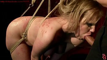 Super hot and super sexy girl Kyra Banks, bound and trained. BDSM bondage sex movie.