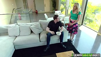 Abby Adams Gets Her Cute Face Splashed With Heaping Load Of Hot Cum From The Stud